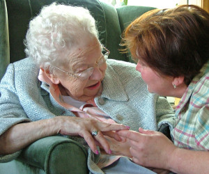 Woman and Caregiver
